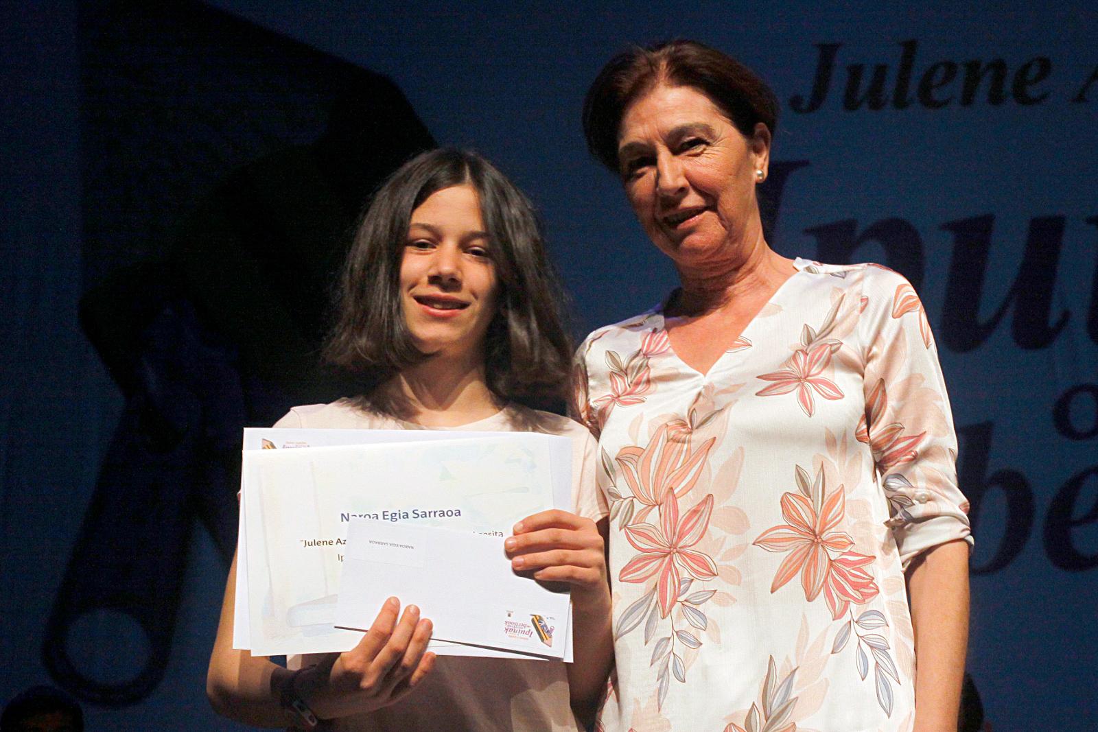 Julene Azpeitia Lehiaketa. Sari banaketa ekitaldia 2018